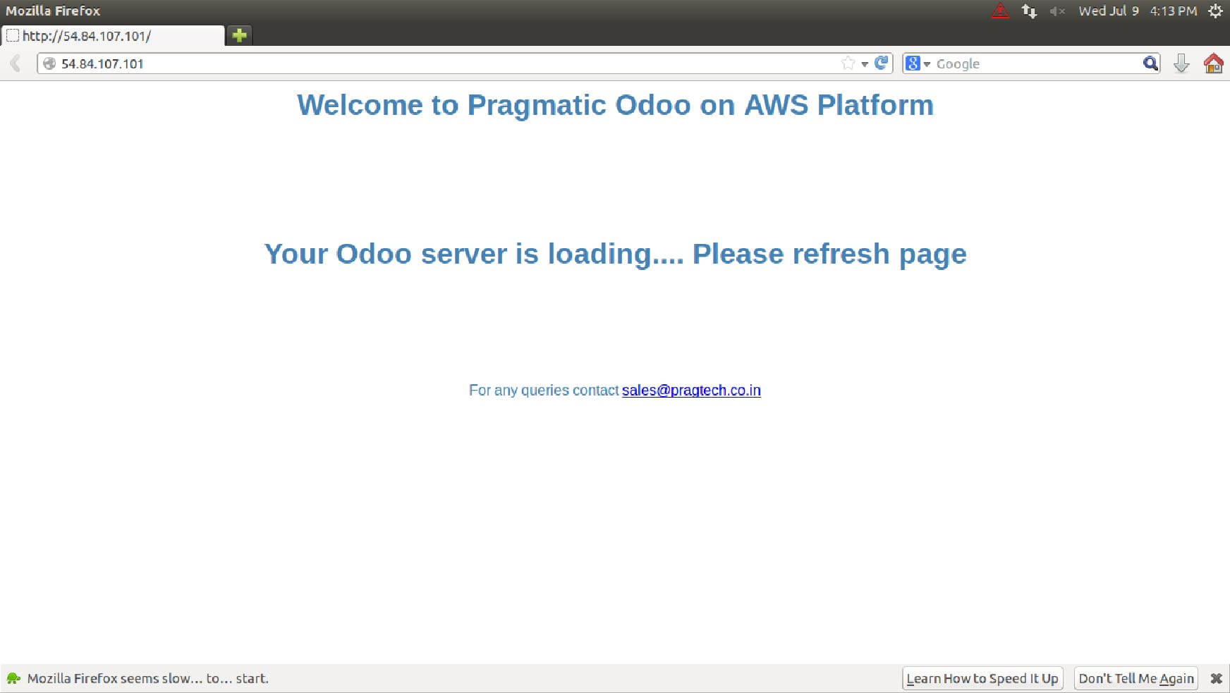 Pragmatic Odoo Amazon AWS Platform - Pragmatic